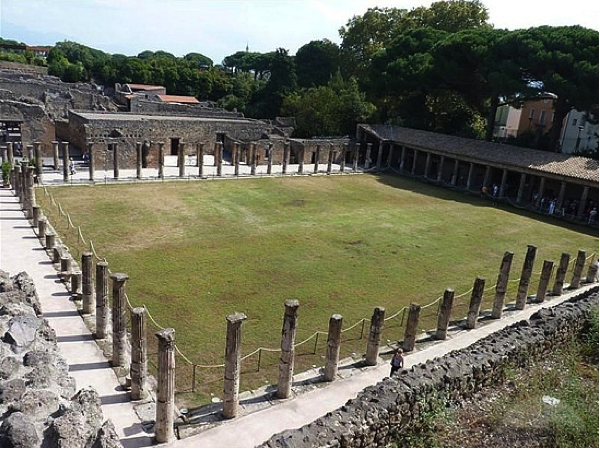 "Remains of a ""gymnasia,"" an early version of our modern gyms."