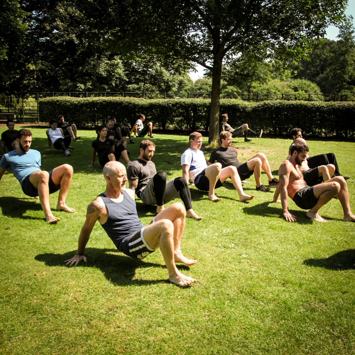 Inverted Foot Hand Crawl - Group